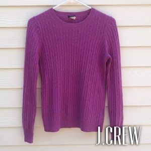 Pink J.Crew Cable Knit Sweater